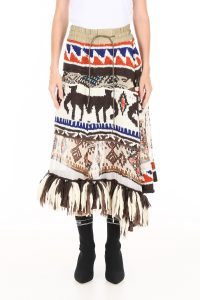 AZTEC SKIRT WITH FRINGES