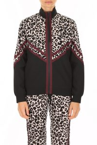 TRACK JACKET WITH LEOPARD PRINT
