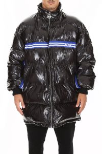 PUFFER JACKET WITH LOGO BAND