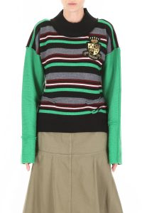 STRIPED PULL WITH LOGO
