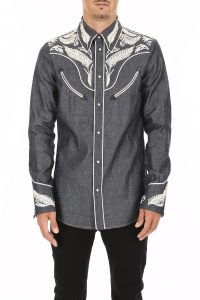 DENIM WESTERN SHIRT WITH EMBROIDERY