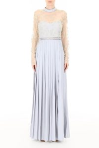 MAXI DRESS WITH LACE AND PEARLS