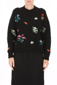PULLOVER WITH FLORAL INTARSIA