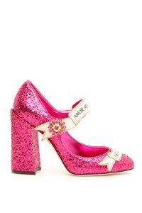 GLITTER MARY JANE PUMPS