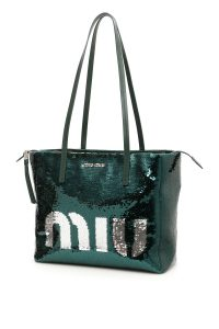 SEQUINS LOGO SHOPPING BAG