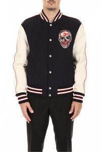 BOMBER JACKET WITH SKULL PATCH
