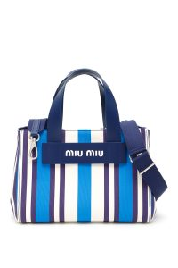 SMALL MULTICOLOR STRIPED SHOPPER