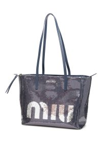 LOGO SEQUINS SHOPPER