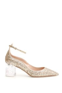GLITTER PUMPS WITH PLEXI HEEL