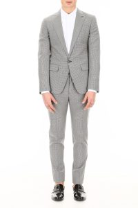 MICRO CHECK TWO-PIECE SUIT