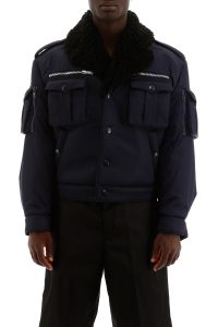 BOMBER JACKET WITH SHEARLING